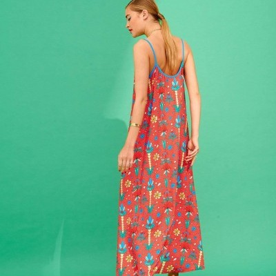 TATI DRESS (RED) - KARAVAN CLOTHING