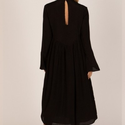 LIA LONG SLEEVE DRESS BLACK - AMUSE SOCIETY