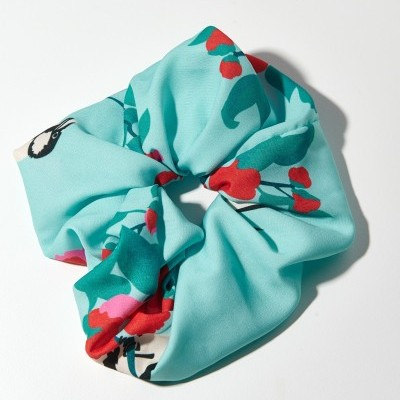 TRIBE SCRUNCHIE (MINT BIRDS) - KARAVAN CLOTHING