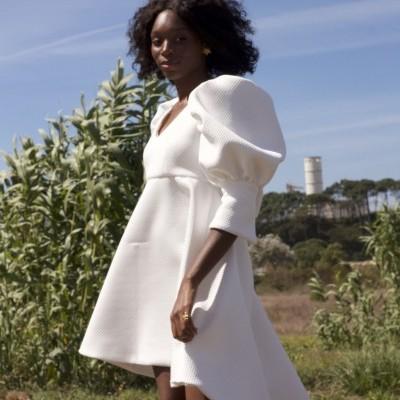 MISSES WHITE & SILVER DRESS - MISSES WHITE