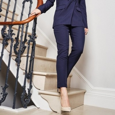 Navy Dynasty Trouser - NEVER FULLY DRESSED