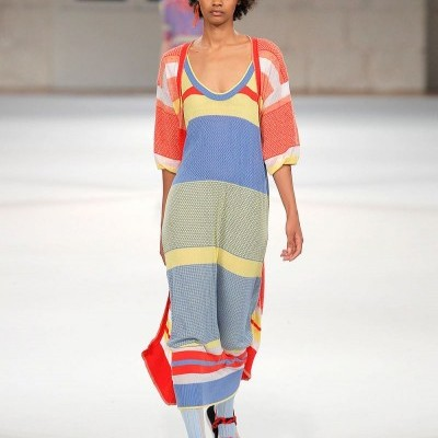 Vestido Riscado em Malha Jacquard - SUSANA BETTENCOURT