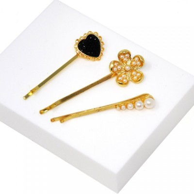 Golden Trio Hair Slides - Johnny Loves Rosie