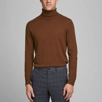 ROLLNECK BROWN / CHOCOLATE FONDANT KNITTED PULLOVER