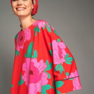 LIZIE TURBAND (PEONIAS RED) - KARAVAN CLOTHING