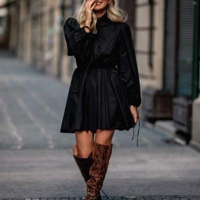 Vestido Preto Popeline - KAOÂ