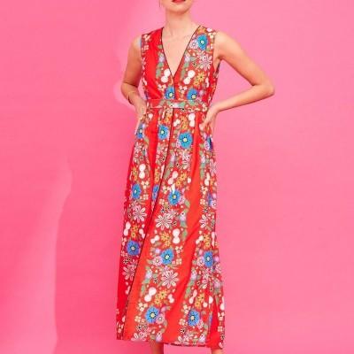 MELANIE DRESS (RED) - KARAVAN CLOTHING