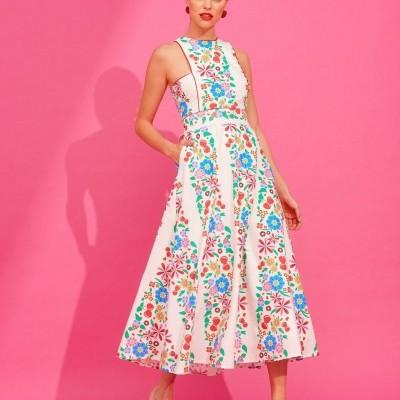 PAQUITA DRESS (IVORY) - KARAVAN CLOTHING