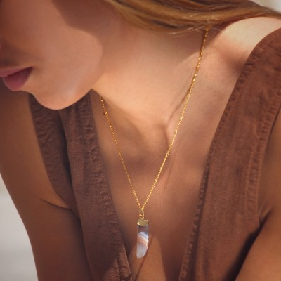 HORN necklace Purple - ANARTXY