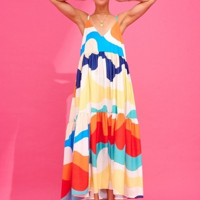 IDA DRESS (ABSTRACT) - KARAVAN CLOTHING
