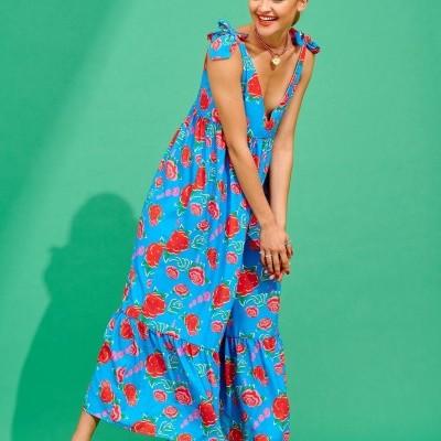 CRISTEL DRESS (TURQUOISE) - KARAVAN CLOTHING