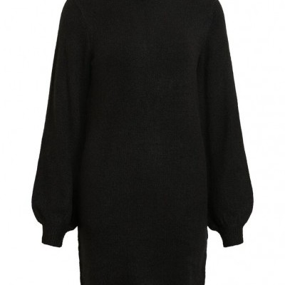 BALLOON SLEEVED KNITTED DRESS - OBJECT