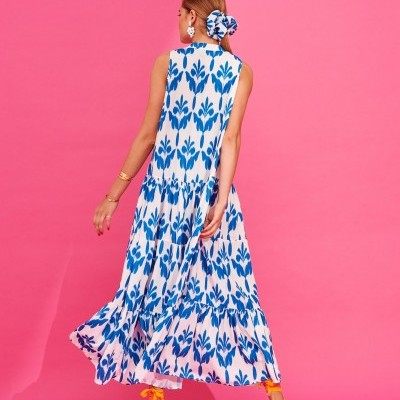 IACOBELLA DRESS (PETROL) - KARAVAN CLOTHING