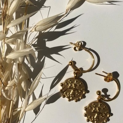 Gardenia Earrings (Gold) - ACTO DESIGN