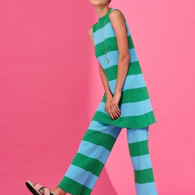 ELIZABETH TROUSERS (GREEN / TURQUOISE) - KARAVAN CLOTHING
