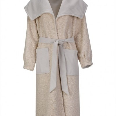 MISSES SHEARLING COAT - MISSES WHITE