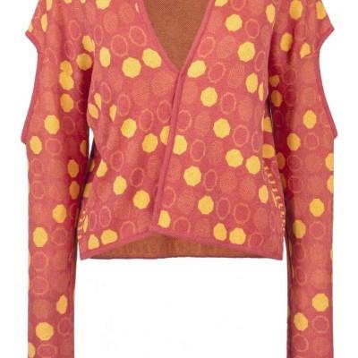 Knitwear Jacquard Kimono Cardigan - SUSANA BETTENCOURT
