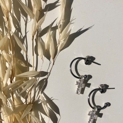 Rose Earrings (SILVER) - ACTO DESIGN