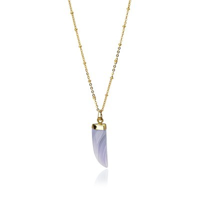 HORN necklace Purple - ANARTXY