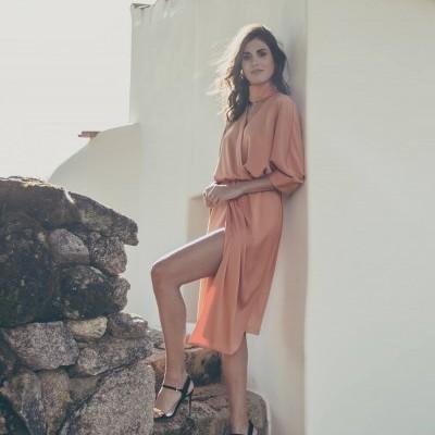 Vestido Salmão - KAOÂ