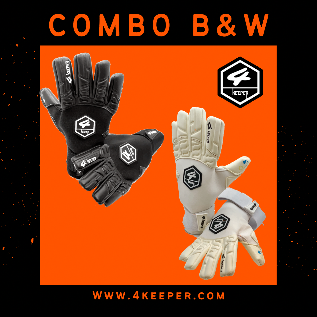 Combo 4 Keeper White Pro + Pro Black