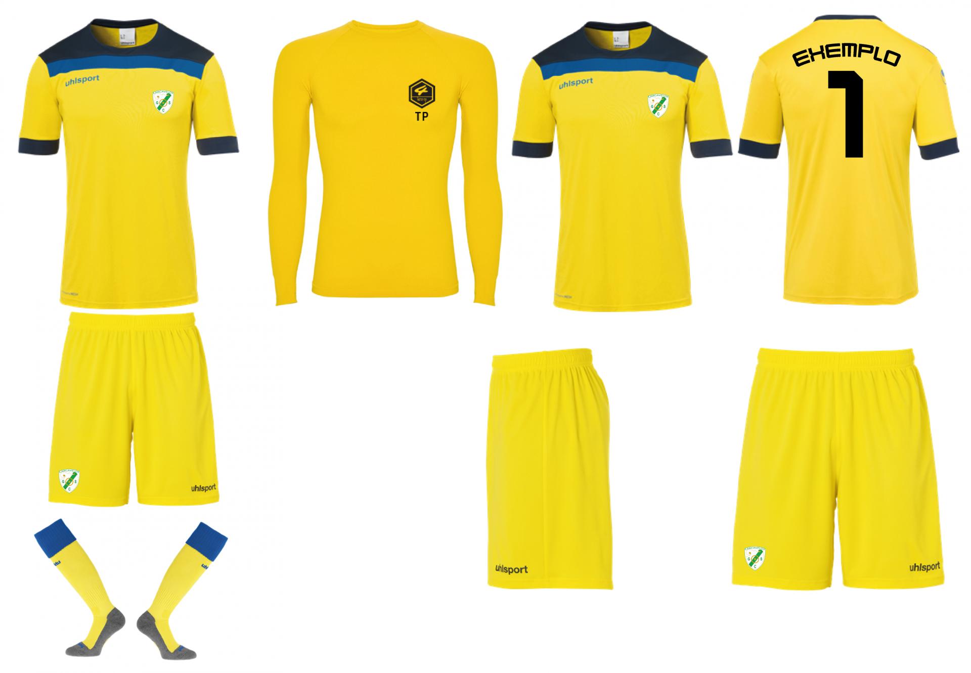 Equipamento Jogo Grupo Sportivo Carcavelos Amarelo