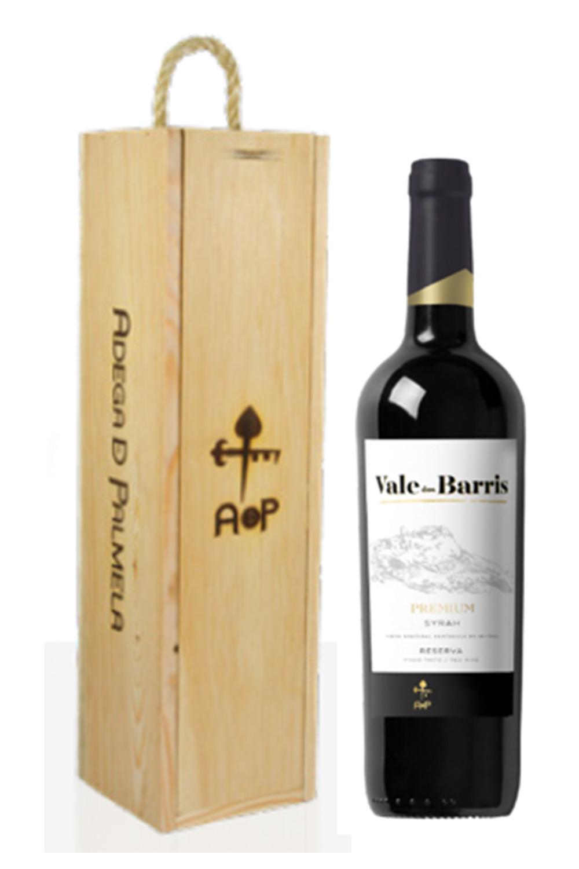 Caixa de 1 garrafa de vinho Vale dos Barris Syrah Premium Reserva 75cl