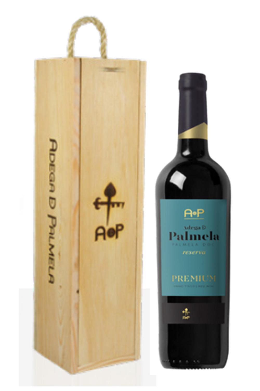 Caixa de 1 garrafa de vinho Adega de Palmela Premium Reserva tinto 75cl