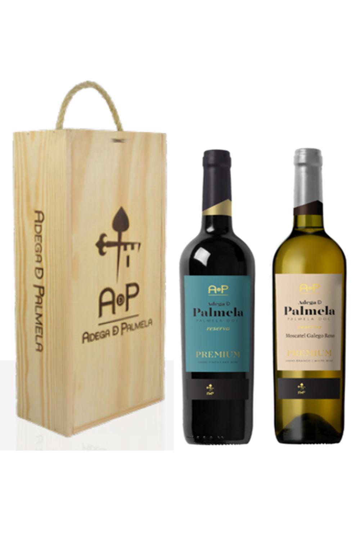 Caixa de 2 garrafas de vinho Adega de Palmela Premium Reserva 75cl