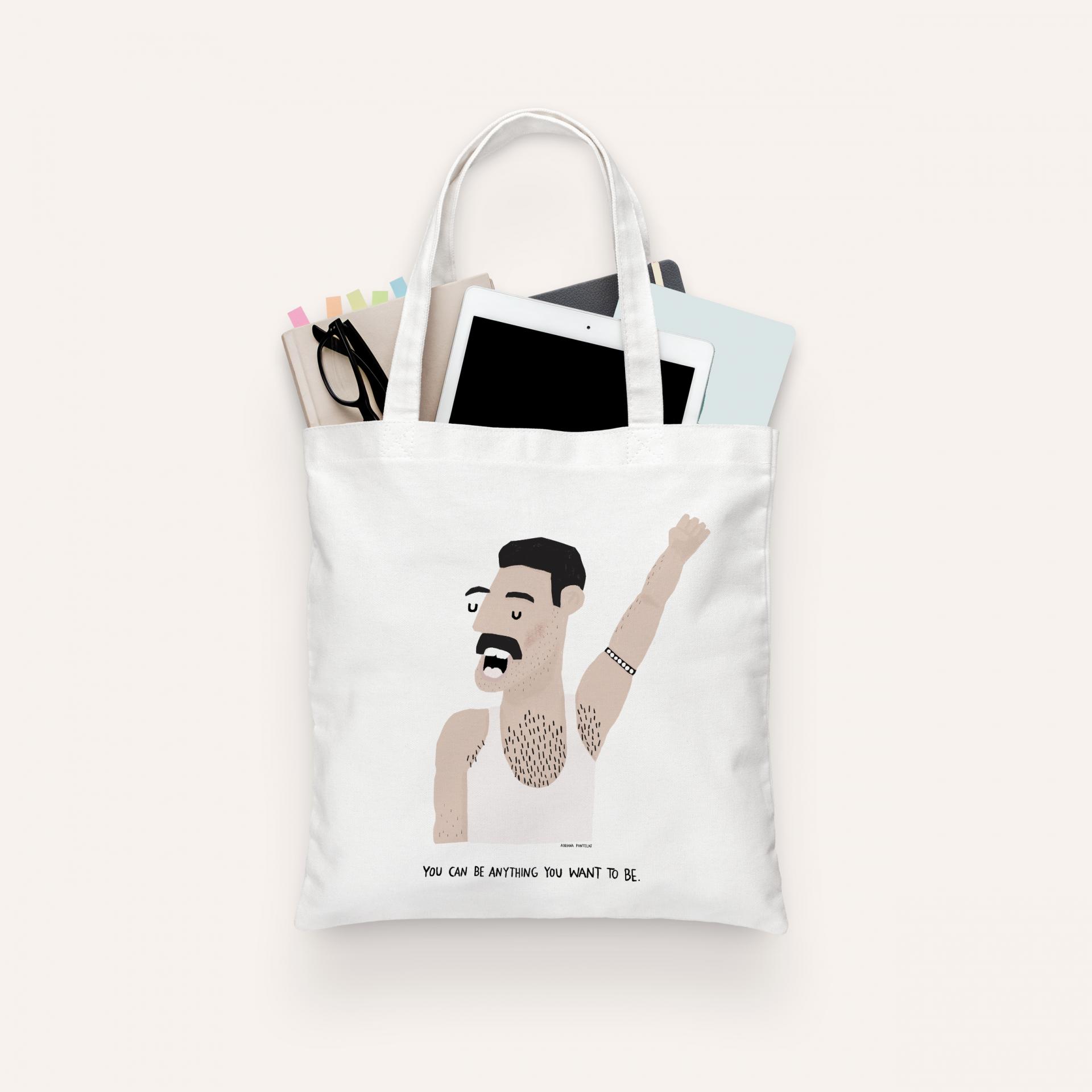 "Tote Bag ""Freddie Mercury"" (PRÉ-VENDA)"