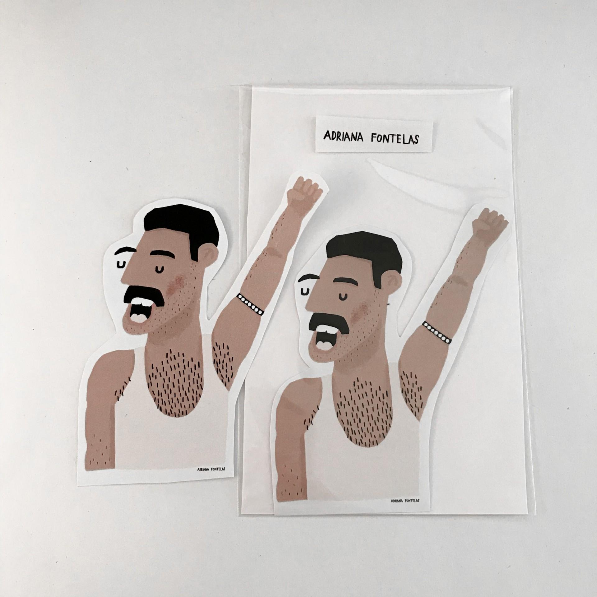 "Autocolante ""Freddie Mercury"""