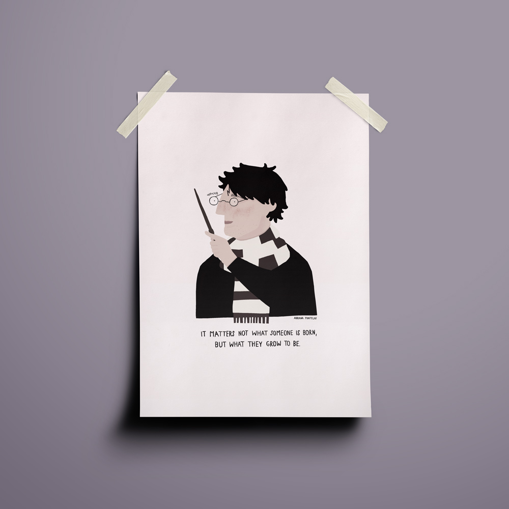 "Ilustração ""Harry Potter"""