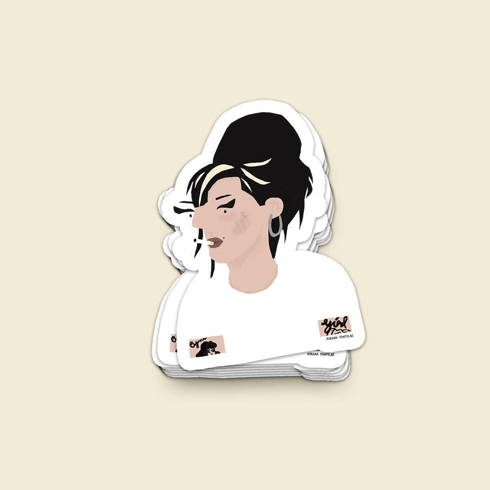 "Autocolante ""Amy Winehouse"""