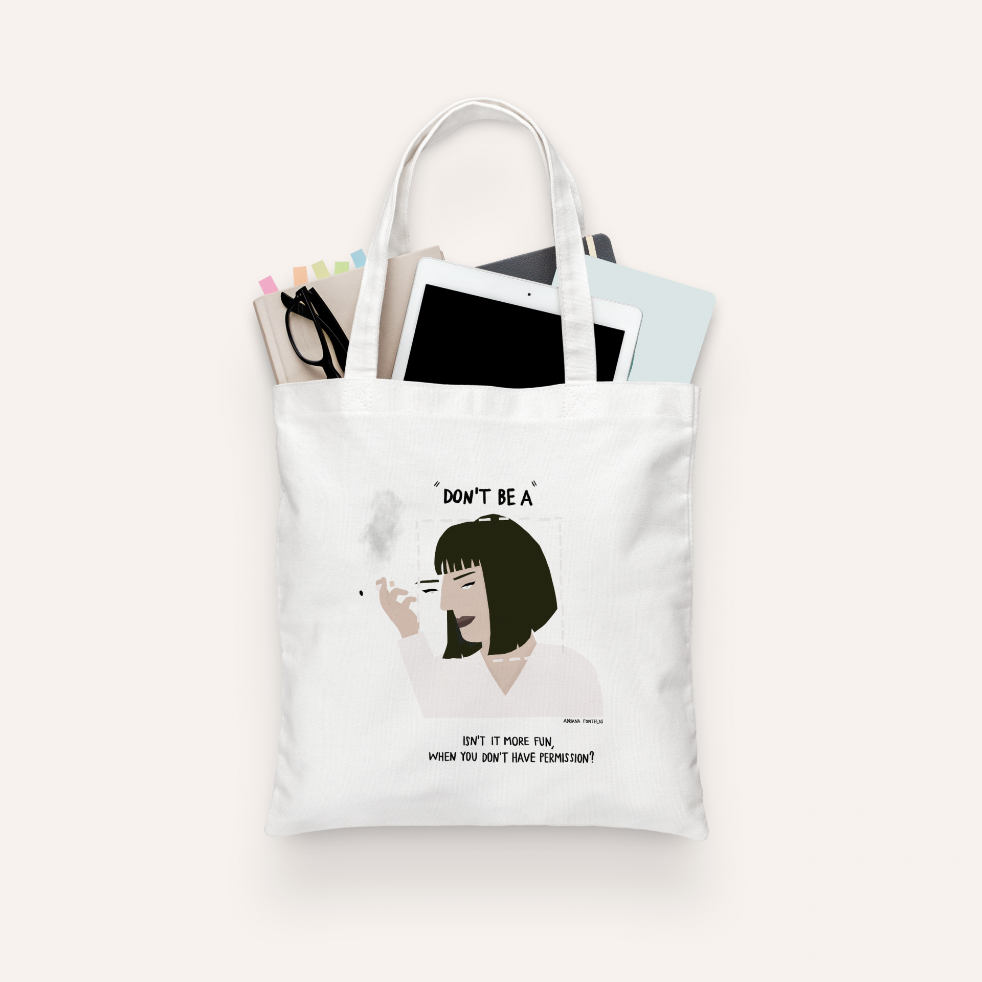 "Tote Bag ""Mia Wallace"" (PRÉ-VENDA)"