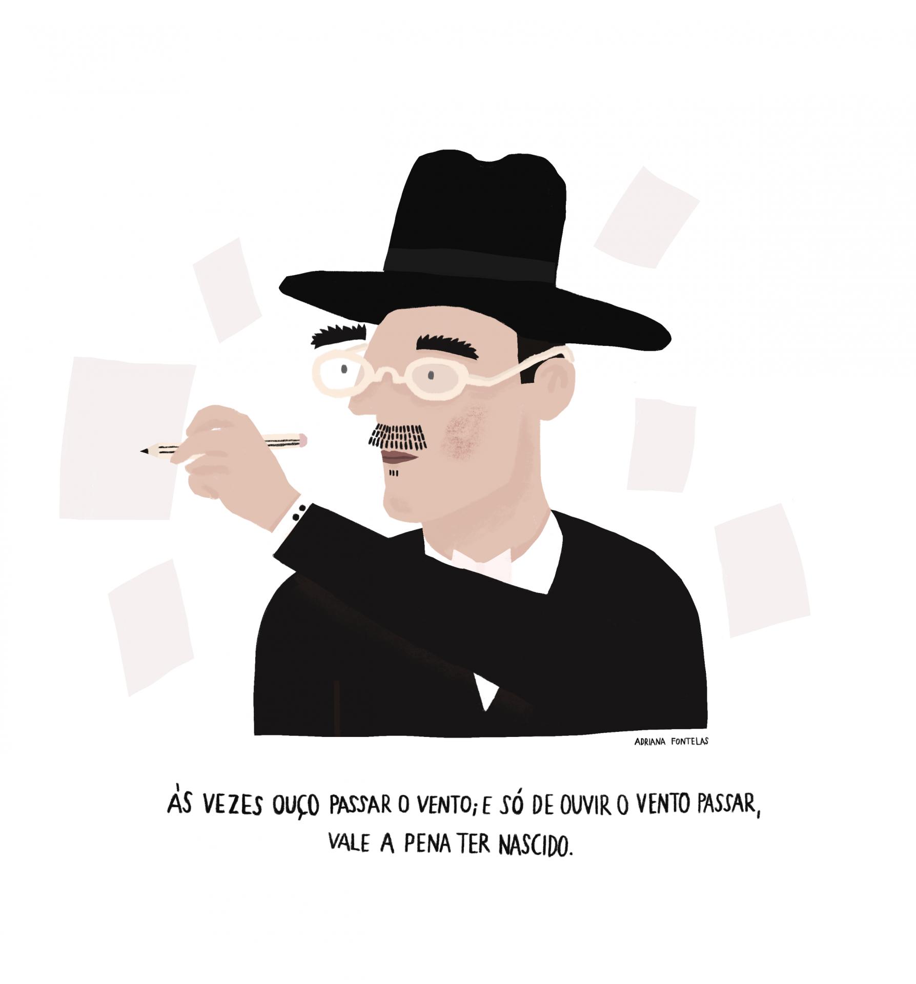 """Ilustração """"Fernando Pessoa"""""""