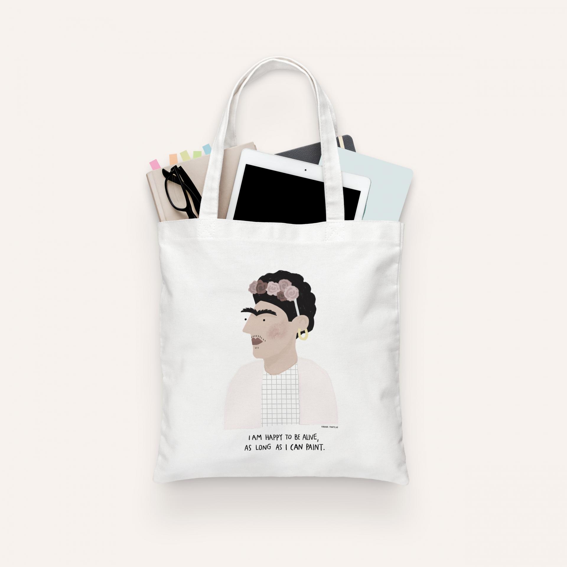 """Tote Bag """"Frida Kahlo"""" (PRÉ-VENDA)"""