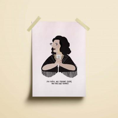 """Ilustração """"Amália Rodrigues"""""""