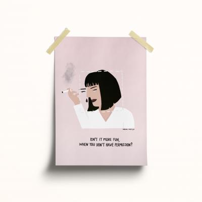 "Ilustração ""Mia Wallace"""