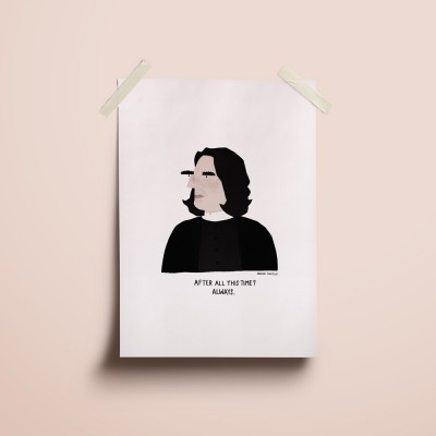 """Ilustração """"Severus Snape"""""""