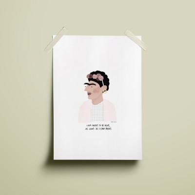 """Ilustração """"Frida Kahlo"""""""