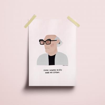 """Ilustração """"José Saramago"""""""