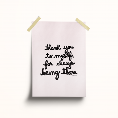"Ilustração ""Thank you to myself for always being there"""