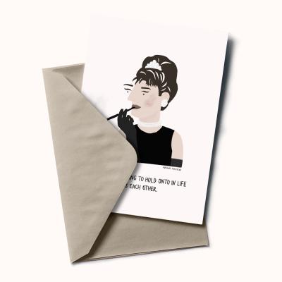 """Postal """"Audrey Hepburn"""""""