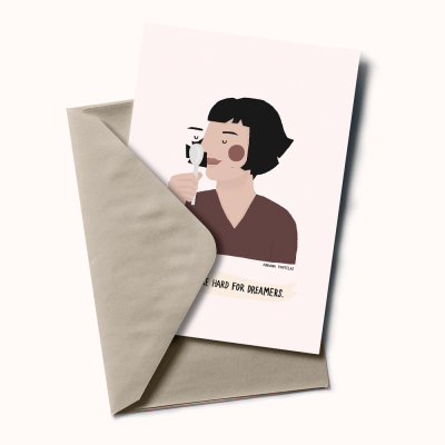 "Postal ""Amélie Poulain"""