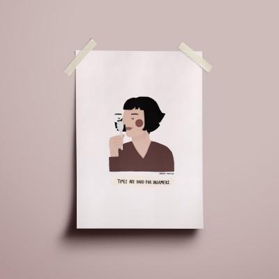 """Ilustração """"Amélie Poulain"""""""