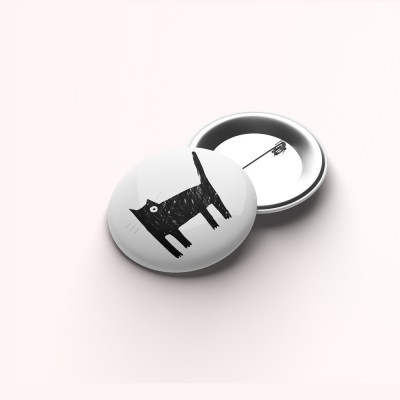 """Pin de alfinete """"Um gato sem olho"""""""