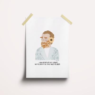 """Ilustração """"Vicent Van Gogh"""""""