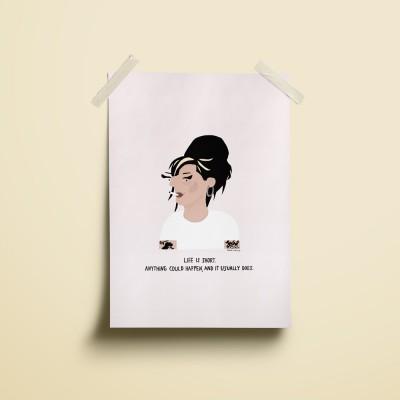 """Ilustração """"Amy Winehouse"""""""
