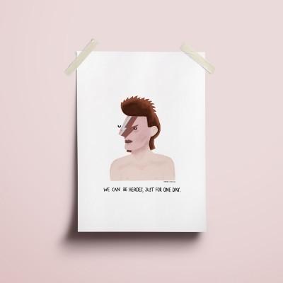 "Ilustração ""David Bowie"""
