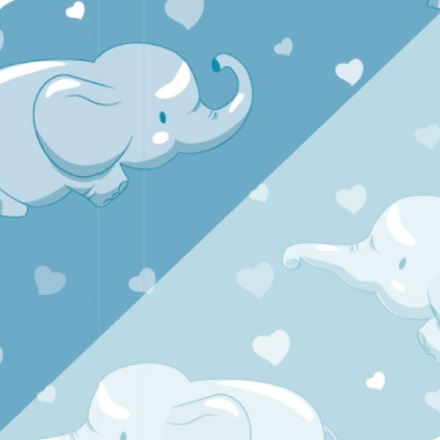 Pack 5 folhas Baby Elefante 50x70cm